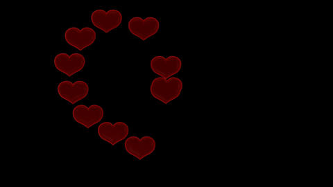 St. Valentine's Day heart transformation. Alpha channel... Stock Video Footage