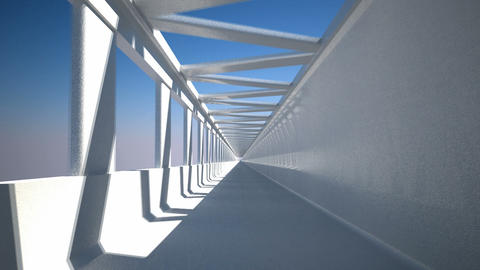 Pass-through. Loopable drive through the corridor Stock Video Footage