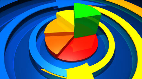business graphics and Forex indicators Stock Video Footage