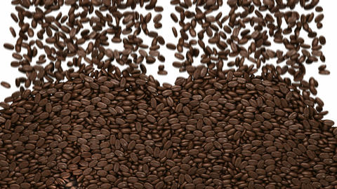 Filling the frame with roasted coffee beans Stock Video Footage