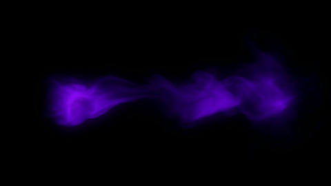 Abstract lilac smoke or gas stream, slow motion. Alpha... Stock Video Footage