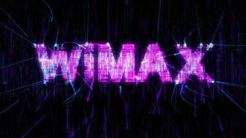 Loopable WiMAX animation. Alpha is included Stock Video Footage