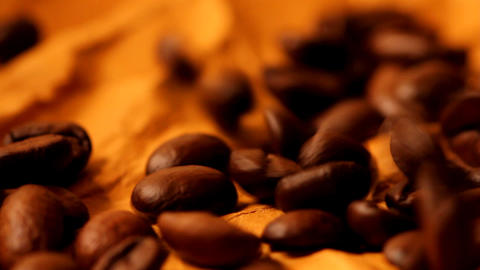 beautiful coffee beans close-up Stock Video Footage