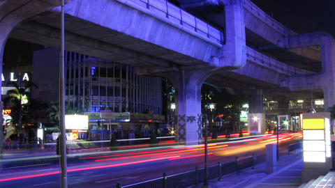 Bangkok traffic time lapse Stock Video Footage