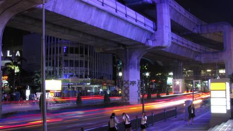 Bangkok traffic time lapse Stock Video Footage