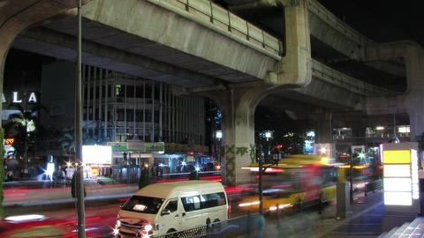 Bangkok traffic time lapse Footage