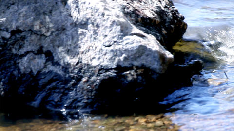 water and rocks Stock Video Footage