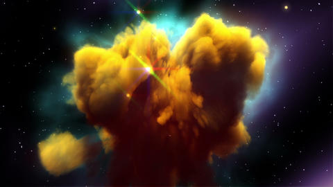 Space Nebula with More Glow Stars Stock Video Footage