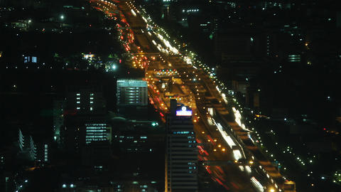 City traffic time lapse zoom 1 Stock Video Footage