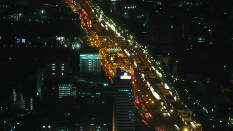 City traffic time lapse zoom 1 Footage