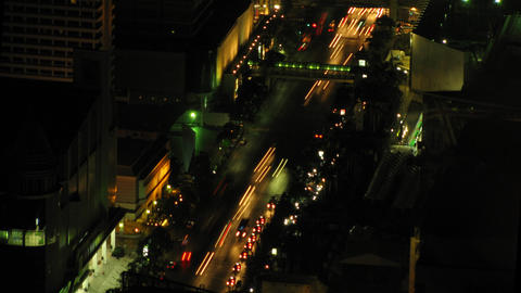 City traffic time lapse zoom 3 Footage
