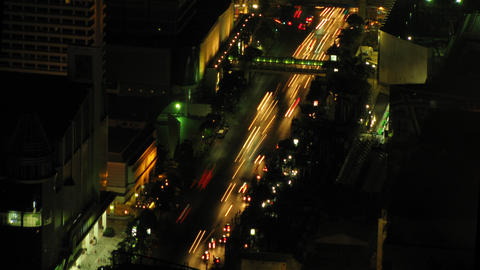 City traffic time lapse zoom 3 Stock Video Footage