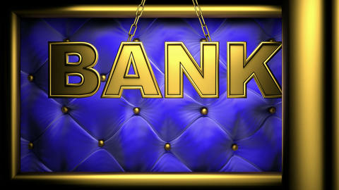bank blue Stock Video Footage