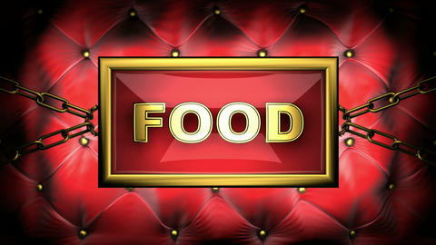 blinking monitor food Stock Video Footage