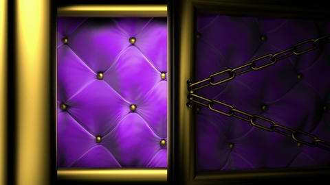 violet doors matte Stock Video Footage