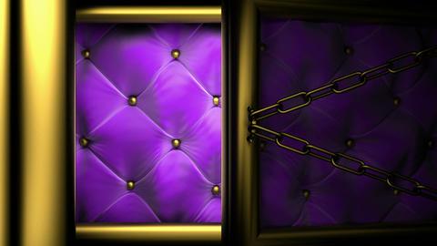 violet doors matte Stock Video Footage
