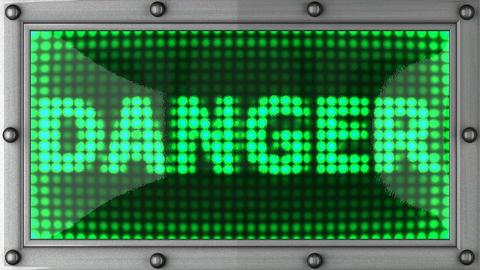 blinking lights(danger) Stock Video Footage