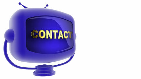 Contact On Loop Alpha Mated Tv stock footage