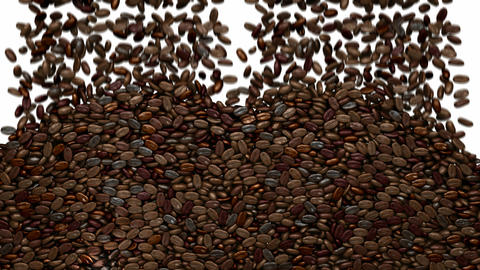 Filling the frame with unsorted coffee beans Stock Video Footage