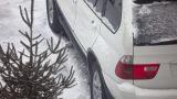 Snow Car stock footage