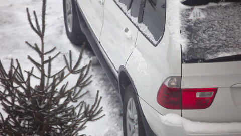 Snow car Stock Video Footage