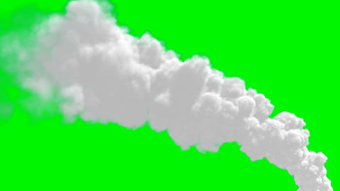 Chimney flue smoke timelapse over green screen Stock Video Footage