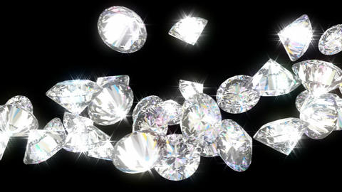 Loopable diamonds or gems flow with slow motion. Alpha channel is included CG動画素材