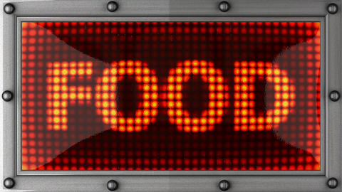 blinking lights(food) Stock Video Footage