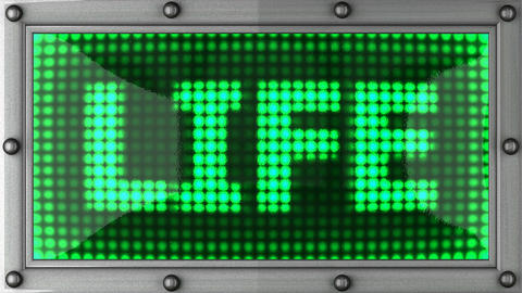 blinking lights(life) Stock Video Footage