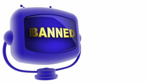 tv banned blue Stock Video Footage
