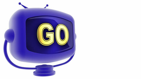 tv go blue Stock Video Footage