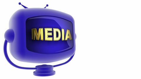 tv media blue Stock Video Footage