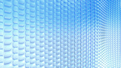 Abstract waving blue scales, seamless loop Animation