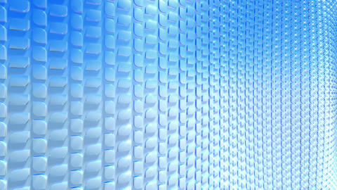Abstract waving blue scales, seamless loop Stock Video Footage