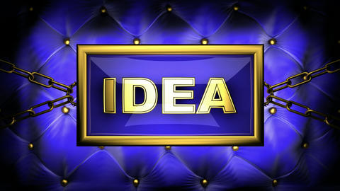 blinking monitor idea Stock Video Footage