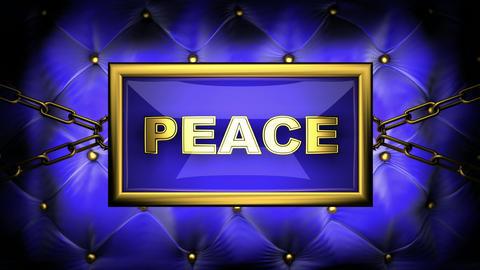 blinking monitor peace Animation