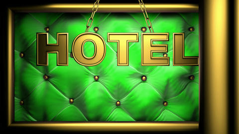 hotel green Stock Video Footage