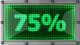 Blinking Lights(75%) stock footage