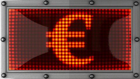 blinking lights(euro) Stock Video Footage