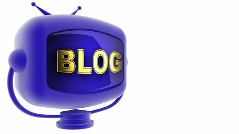 tv blog blue Stock Video Footage