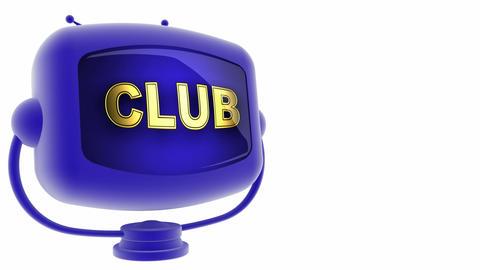tv club blue Stock Video Footage