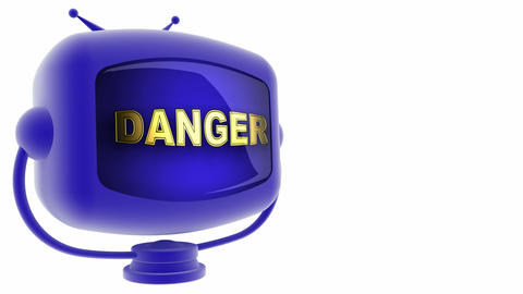 tv danger blue Animation
