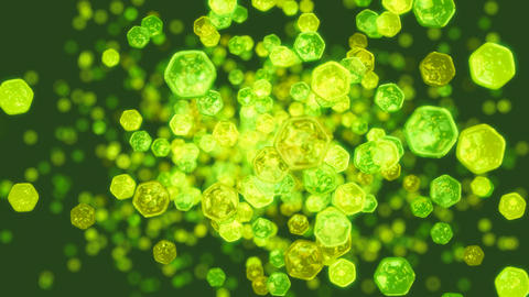 Splash of green abstract bubbles and lights. Useful as... Stock Video Footage