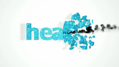 Health crash. Abstract destruction with slow motion Stock Video Footage