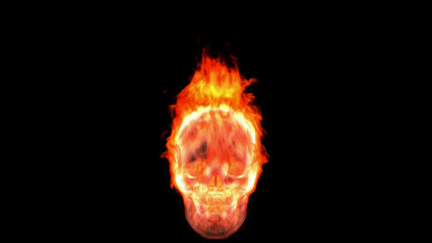 Loopable burning skull. Alpha channel is included Stock Video Footage