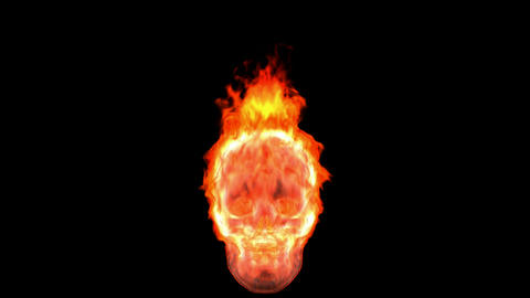Loopable burning skull. Alpha channel is included Animation