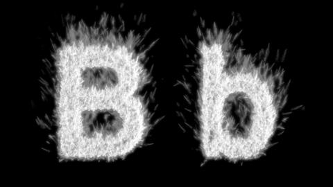Loopable burning B character, capital and small. Alpha... Stock Video Footage