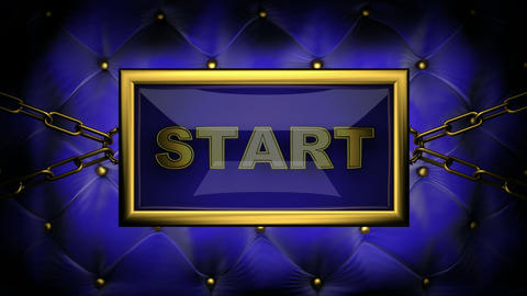blinking monitor start Stock Video Footage