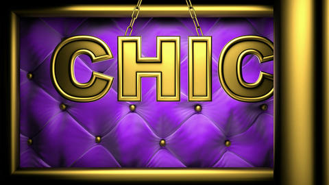 chic violet Stock Video Footage