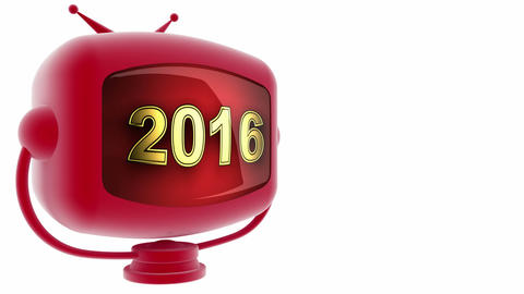 tv 2016 red Stock Video Footage